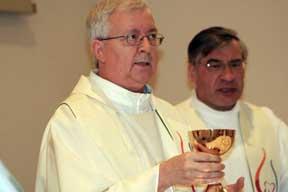 Maurice celebrate mass