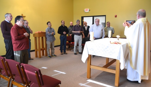 The day of meetings began with Eucharist