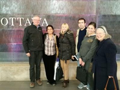 John, Nada Sabha, Julie Simard of Catholic Immigration Center, Andre Boulad, Riwa Boulad and Janet Strangeways from Sunday community.
